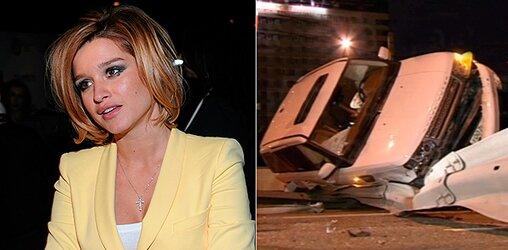 Ксения Бородина попала в аварию