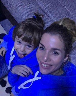 Саша Гозиас с дочкой Софией